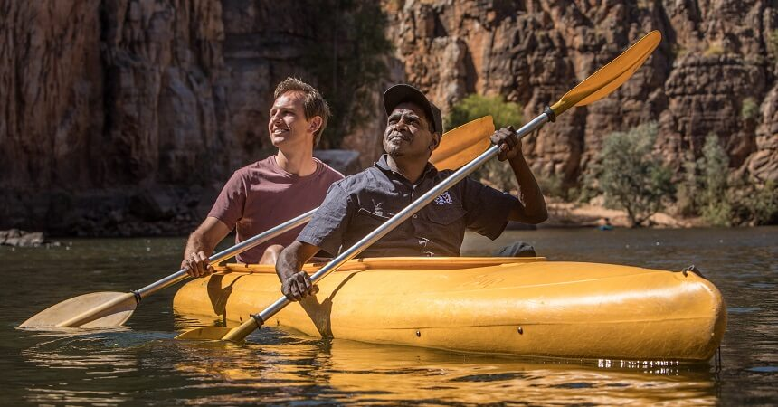 Canoeing on Katherine Gorge