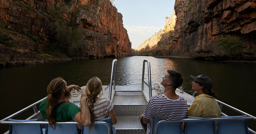 Boat tour in Katherine Gorge